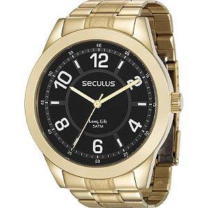 Relógio Seculus Masculino Analógico Dourado 28923GPSVDA2