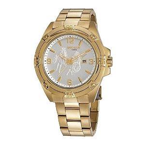 Relógio Seculus Masculino Analógico Dourado 20733GPSVDA1