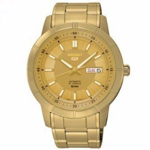Relógio Seiko Masculino Automático Dourado SNKN18B1C1KX
