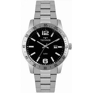 Relógio Technos Masculino Analógico Prata 2115MPY/1P