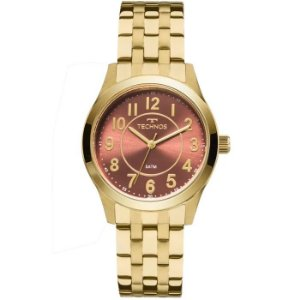 Relógio Technos Feminino Analógico Dourado 2035MJD/4R