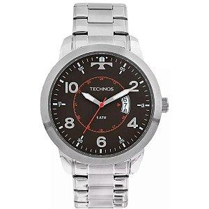 Relógio Technos Masculino Analógico Prata 2115KTM/1P