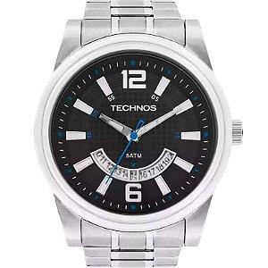 Relógio Technos Masculino Analógico Prata 2115KST/1A