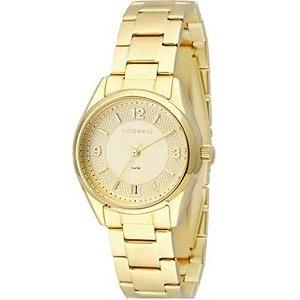 Relógio Technos Feminino Analógico Dourado 2115KNR/4X