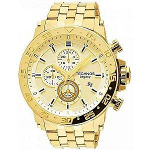 Relógio Technos Masculino Cronógrafo Dourado JS15AO/4X