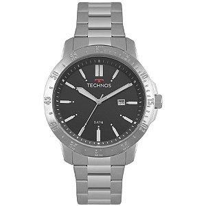 Relógio Technos Masculino Analógico Prata 2115MQT/1C