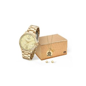 Relógio Mondaine Feminino Analógico Dourado 99128LPMKDE7K1