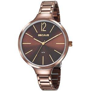 Relógio Seculus Feminino Analógico Dourado 20760lpsvms4