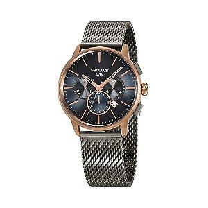 Relógio Seculus Feminino Cronógrafo Chumbo 13038GPSVUA2