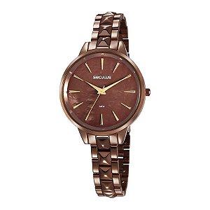 Relógio Seculus Feminino Analógico Chocolate 77029lpsvms4