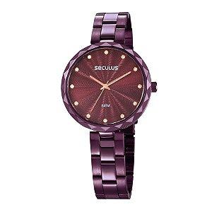 Relógio Seculus Feminino Analógico Roxo 77039LPSKFS2