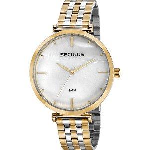Relógio Seculus Feminino Analógico Bicolor 77040lpskbs1