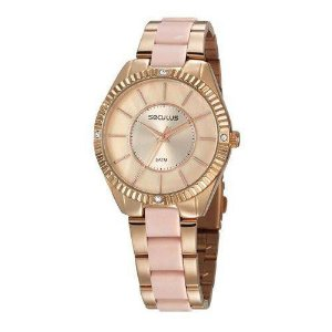 Relógio Seculus Feminino Analógico Bicolor 77028LPSVRF2