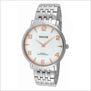 Relógio Magnum Masculino Analógico Prata MA21893Q