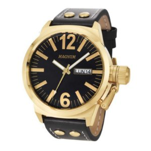 Relógio Magnum Masculino Analógico Couro MA31524U