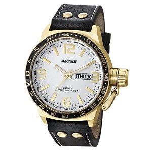 Relógio Magnum Masculino Analógico Couro MA31542B