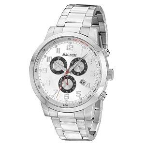 Relógio Magnum Masculino Cronógrafo Prata MA33166Q
