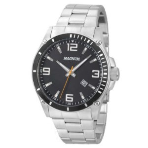 Relógio Magnum Masculino Analógico Prata MA34638T