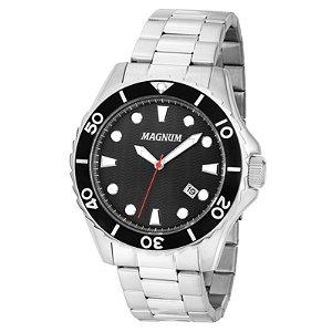 Relógio Magnum Masculino Analógico Prata MA35011T