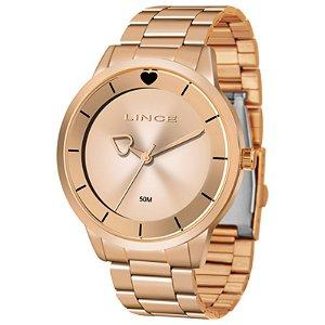 Relógio Lince Feminino Analógico Rosé LRR4572LR1RX