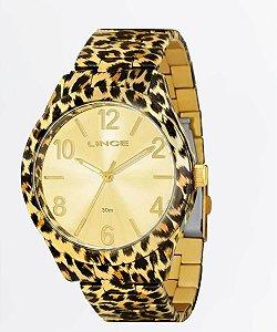 Relógio Lince Feminino Analógico Dourado LRB4214L