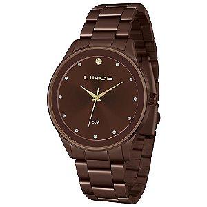 Relógio Lince Feminino Analógico Marrom LRBJ090L