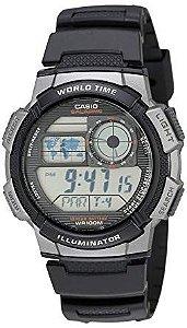 Relógio Casio G-Shock Masculino Digital Preto/Cinza AE100W1BVDF
