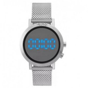 Relógio Euro Feminino Digital Prata EUBJ3407AB/3P