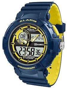 Relógio X-Games Masculino Anadigi Azul Amarelo XMPPA264BXDY