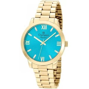 Relógio Champion Analógico Feminino Dourado CN25163F