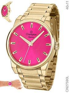 Relógio Champion Feminino Analógico Dourado CN27590L