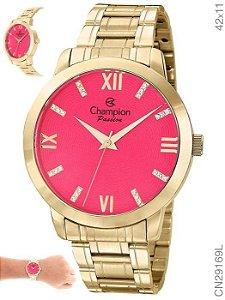 Relógio Champion Analógico Feminino Dourado CN29169L