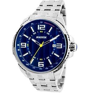 Relógio Magnum Analógico Masculino Prateado MA32818F