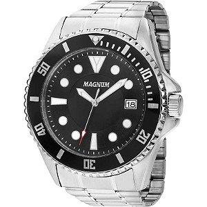 Relógio Magnum Analógico Masculino Prateado MA33059T