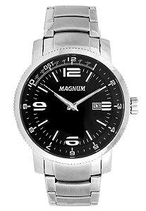 Relógio Magnum Analógico Masculino Prateado MA33095T