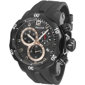 Relógio Magnum Masculino Cronógrafo Preto MA33755P