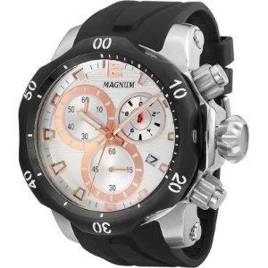 Relógio Magnum Masculino Cronógrafo Preto MA33755S