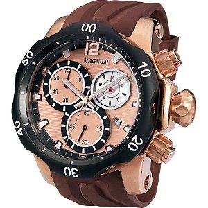 Relógio Magnum Masculino Cronógrafo Marrom MA33755Z