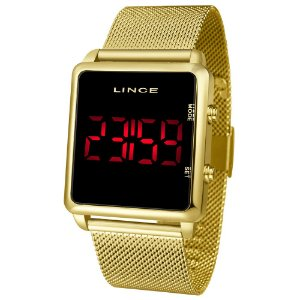 Relógio Lince Feminino Dourado Digital MDG4596L
