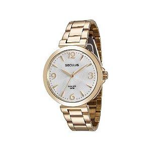Relógio Seculus Analógico Feminino Dourado 28818LPSVDA1