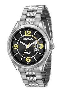 Relógio Seculus Masculino Analógico Prateado 23647G0SVNA1