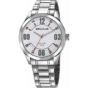 Relógio Seculus Masculino Analógico Prateado 23657G0SVNA2