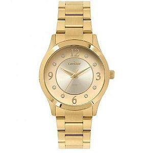 Relógio Condon Analógico Feminino Dourado CO2036KVB4D