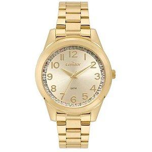 Relógio Condon Analógico Feminino Dourado CO2039BI/K4D