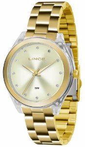 Relógio Lince Feminino Analógico Dourado LRG4431P