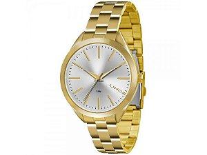 Relógio Lince Feminino Analógico Dourado LRG4329L