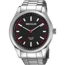Relógio Seculus Masculino Analógico Prateado 28979G0SVNA1