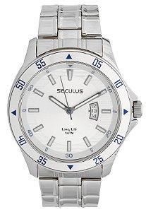Relógio Seculus Masculino Analógico Prateado 28807G0SVNA1