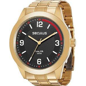 Relógio Seculus Masculino Analógico Dourado 28885GPSVDA3