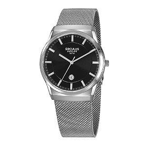Relógio Seculus Masculino Analógico Prateado 23658G0SVNA1